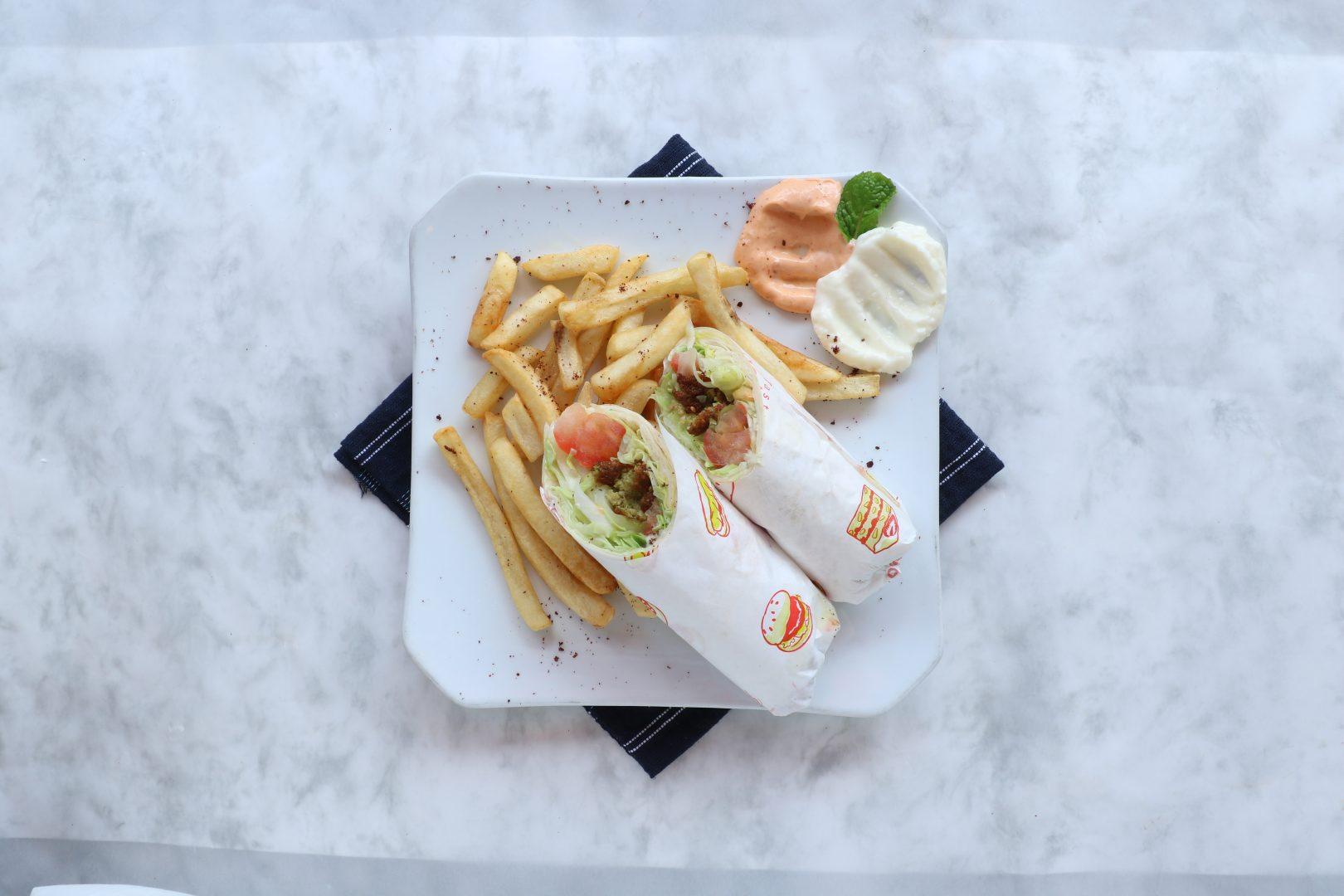 Falafel Wrap Byblos Grill Singapore